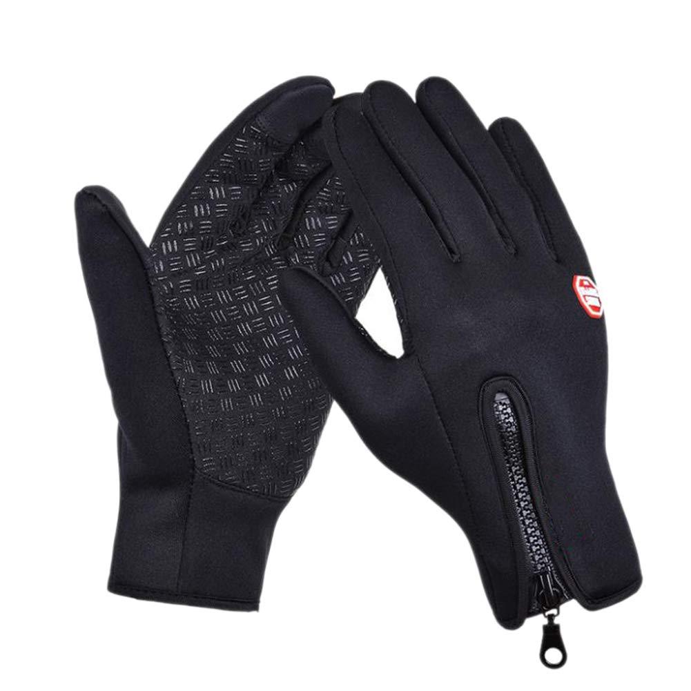 Fablcrew 1 Paire Unisexe Gants Sport pour Extérieur Compatibles écran Tactile Gants d'hiver Coupe-Vent pour Homme et Femme pour Smartphone