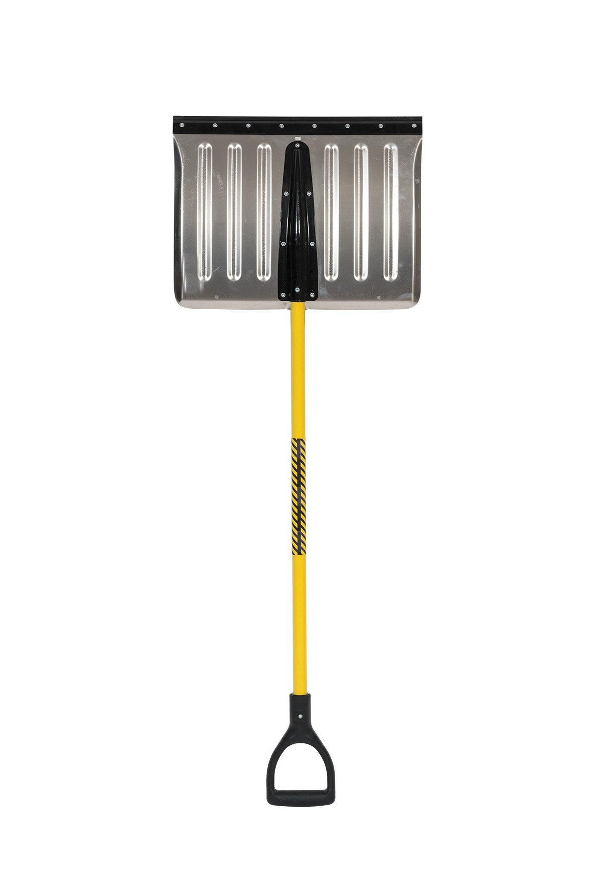 Structron STR-AS200 18'' Blade Snow Shovel, 41'' Fiberglass Handle, Poly D-Grip