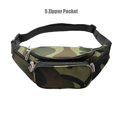 Litthing Fashion Women Men Fanny Solid Pack Waist Bag Sport Unisex Waistbag Belt Bag Mobile Phone Zipper Pouch Packs Belt Fine Jewelry