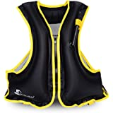 OMOUBOI Snorkel Vest Life Jacket Inflatable Kayak Life Vest for Adults and Youth 88-220 lbs Swimming Boating