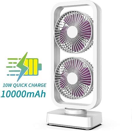 COMLIFE Ventilador de Torre USB Portátil de 10000 mAh Ventilador ...