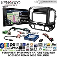 Volunteer Audio Kenwood Excelon DNX694S Double Din Radio Install Kit with GPS Navigation System Android Auto Apple CarPlay Fits 2015-2017 Chevrolet Colorado, GMC Canyon