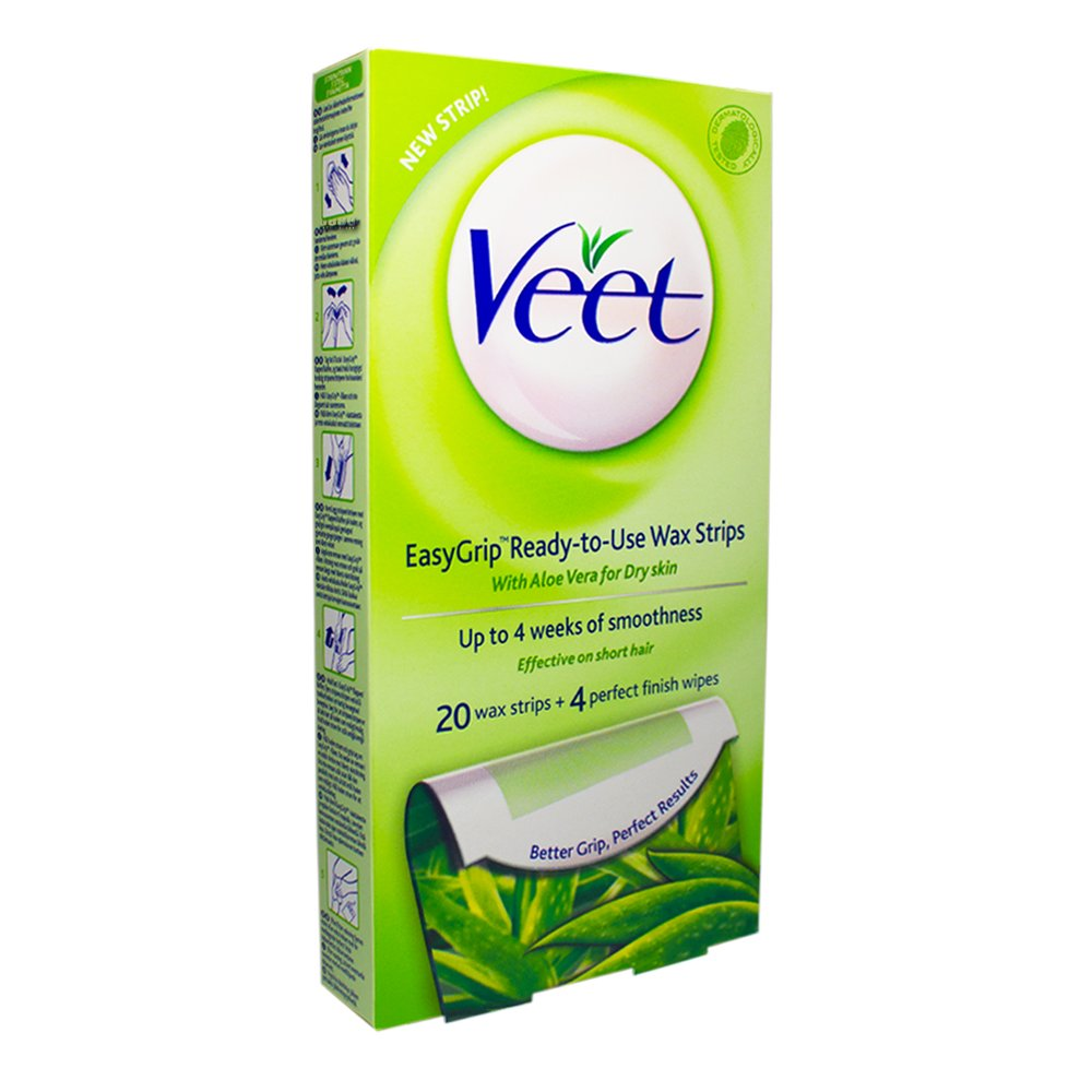 Amazon Com Veet For Men Cold Wax Strips Hair Removal Strips Hair Waxing Kits Beauty