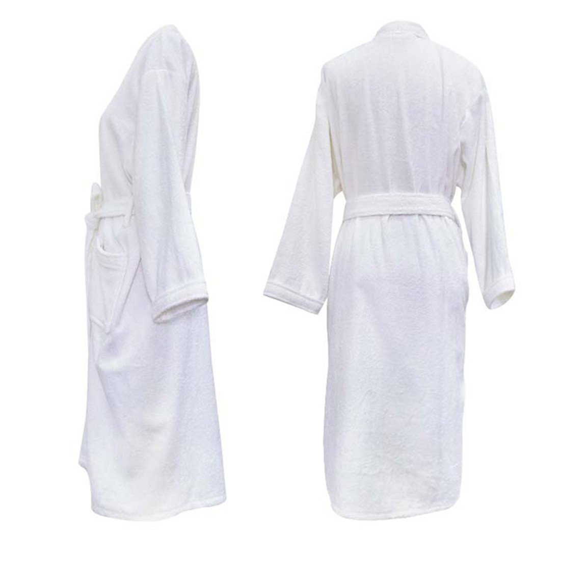 Unisex Towelling Robe 100% Cotton Terry Towel Bathrobe Dressing Gown Bath  Robe Perfect for Gym Shower Spa Hotel Robe Holiday Present or Christmas Gift   ... 668a60330
