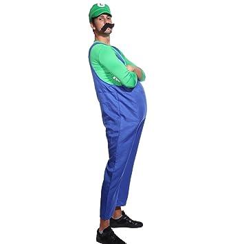 Gruen + Blau Gr.L Super Mario & Luigi Klempner Kostuem Halloween ...
