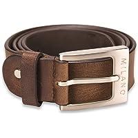 "Milano Mens Full Grain Leather Belt - 1.25"" (30mm) - Black and Brown # ML-2910"