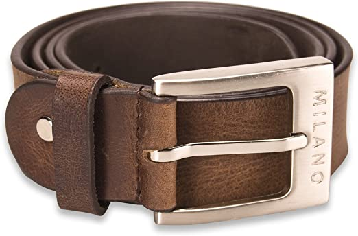 "DESIGNER MEN/'S CASUAL DRESS SOLID GENUINE LEATHER BELT 1 1//4/"" WIDE S M L XL"