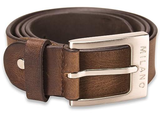 0970279f635 Milano Mens Full Grain Leather Belt 1.25
