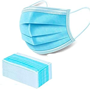 Roke Disposable Face Mask (blue-50pcs) 3-layer Anti Dust Breathable Earloop Mouth Mask, Comfortable Sanitary for Dust, Protection & Personal Health, 1count