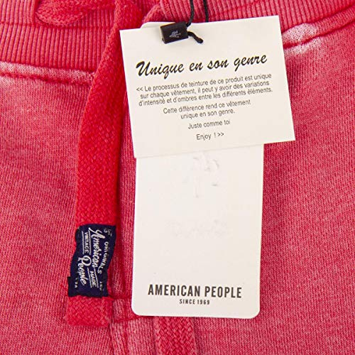 Délavé Rose En Bermuda American People Rouge M Sweat Homme xRXU1pqw