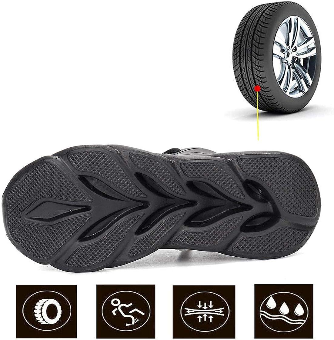YHHF S3 Chaussure de Securit/é Homme Femmes Poids l/éger Chaussures de Travail Basket de Sports avec Embout de Protection en Acier Bottes Taille 36-48