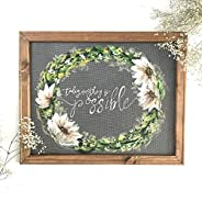 Today Anything is Possible, hand painted window screen wall art