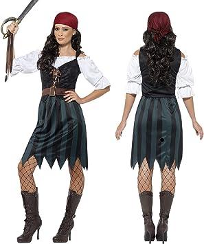 NET TOYS Disfraz Pirata Mujer Traje corsaria XL 48/50 Atuendo ...