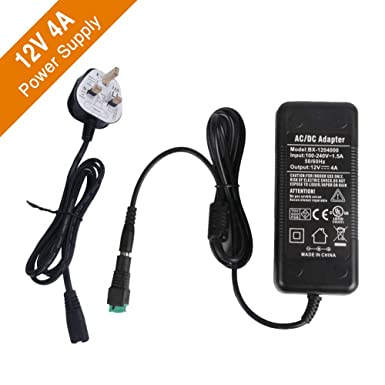 7f323b6454025 Signcomplex LED Driver 12V 4A Power Supply, AC 90-240V to DC 12V Adapter  Switching Transformers for LED Strip Adapter 48 Watt Max, CE/TUV/GS ...