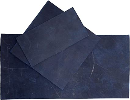 Heavy Weight Thick Leather Rectangles :: Slate Blue 3-3.5mm 3 x 6 in. 8 Piece Set for Crafts//Tooling//Hobby Workshop Hide /& Drink