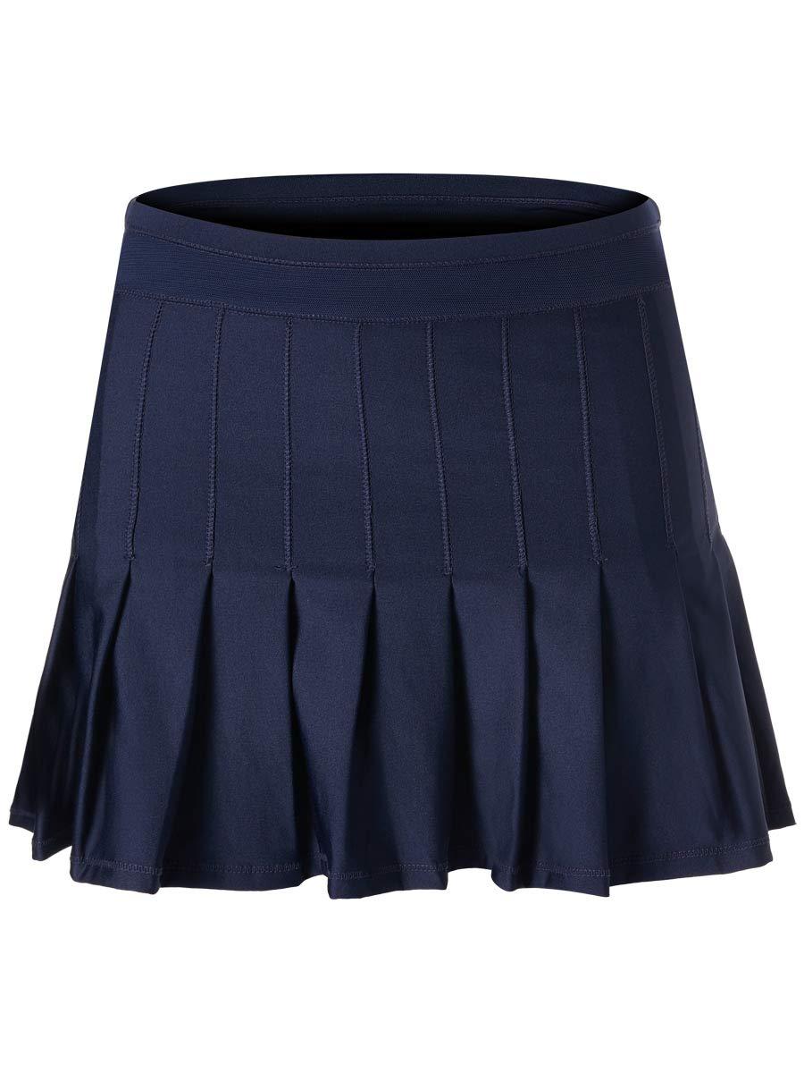 Lucky In Love Ultraviolet Long Retro Pleated Skirt (Medium)