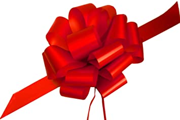 Amazon Com Large Red Ribbon Pull Bows For Christmas Gifts 9 Wide