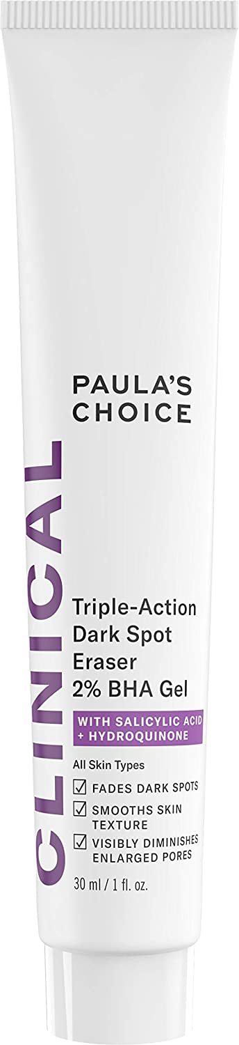Paula's Choice RESIST Triple-Action Dark Spot Eraser 2% BHA Gel, 1 oz Bottle with Salicylic Acid and Hydroquinone-Normal to Oily Skin Paula' s Choice