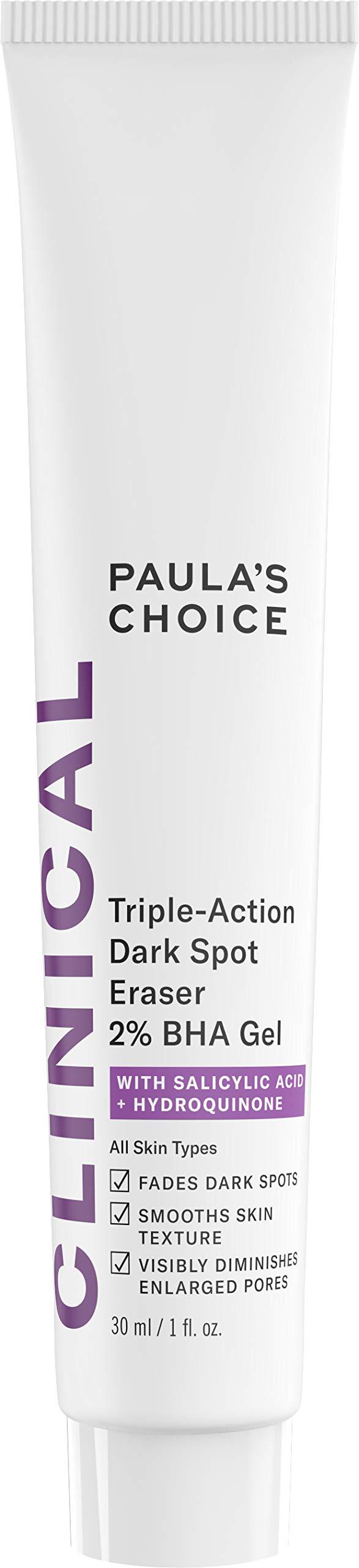 Paula's Choice CLINICAL Triple-Action Dark Spot Eraser 2% BHA Gel | Salicylic Acid & Hydroquinone | Hyperpigmentation & Skin Lightening | 1 Ounce