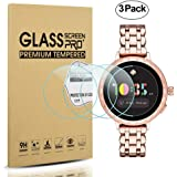 Diruite 3-Pack for Kate Spade Scallop 2 Smartwatch Screen Protector Tempered Glass [2.5D 9H Hardness] [Anti-Scratch] [Bubble-Free] - Permanent Warranty