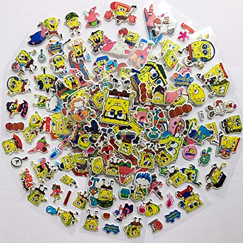 Chaoiwah Spongebob Stickers 10 Sheets and 2 More Free Sheet Sticker Totally 12 Sheets per Pack ()