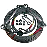 Freedom Pet Supply 250 Ft Aerial Dog Trolley Run Leash Harness Cable Overhead FDR-250