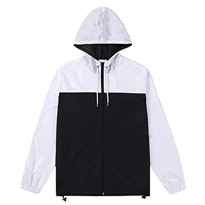Beautiful Giant Men's Active Workout Gym Hooded Sports Windbreaker Jacket