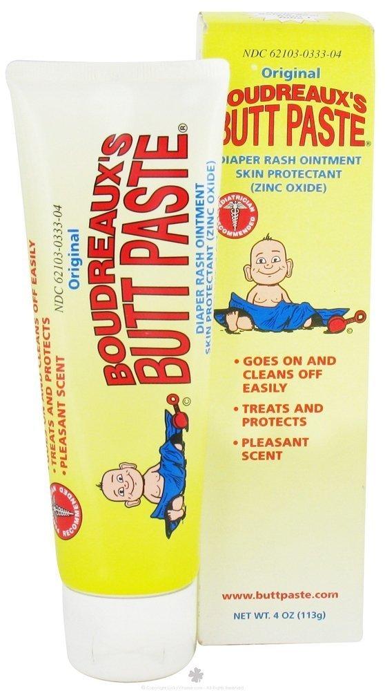 Boudreaux Butt Paste Diaper Rash Ointment Tube, 4 oz by Boudreaux (Pack of 2)