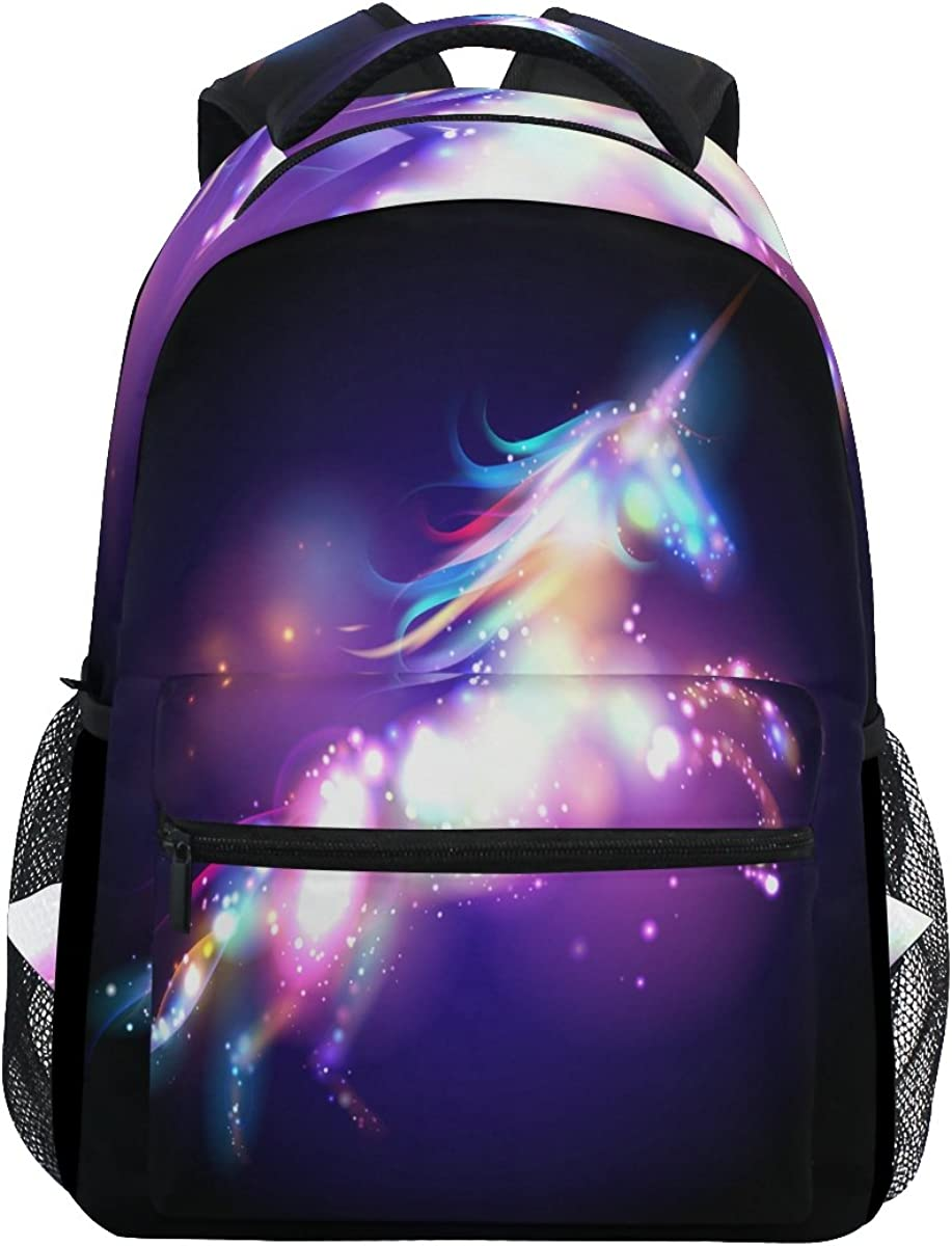 JSTEL Unicorn Magic With Stars School Backpack 1th 2th 3th Grade for Boys Teen Girls Kids