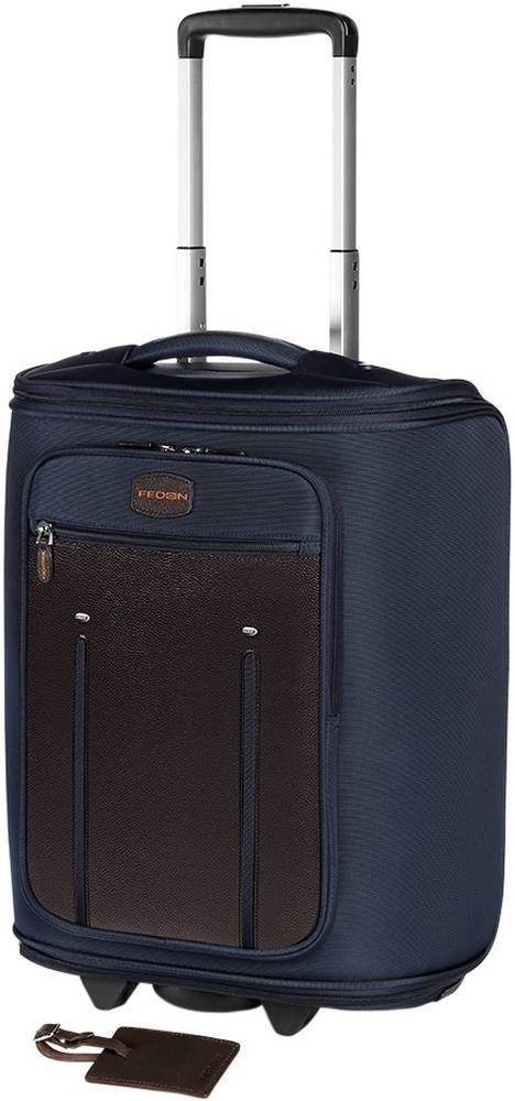 Brown/Blue Travel Web Marco Polo Suitcase by Giorgio Fedon 1919