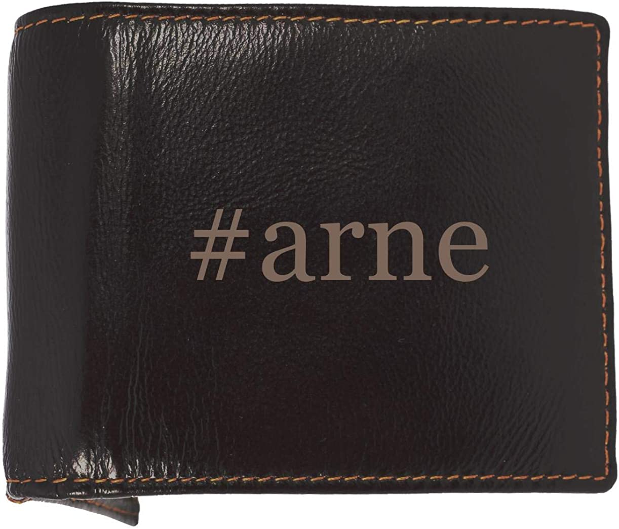 #arne - Soft Hashtag Cowhide Genuine Engraved Bifold Leather Wallet 61bu6NfDnoL
