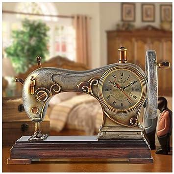 SMC Retro Arte Creativo salón Dormitorio silencioso Asiento Reloj máquina de Coser Que moldea el Reloj