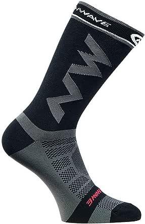 cottonlilac  largos de compresión transpirables para hombres adultos Calcetines cálidos de fútbol Baloncesto Deportes Antideslizantes Ciclismo Escalada Calcetines para correr - Negro