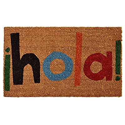 "Home & More 121561729 Hola Doormat, 17"" x 29"" x 0.60"", Multicolor"