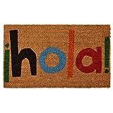 Home & More 121561729 Hola Doormat, 17'' x 29'' x 0.60'', Multicolor