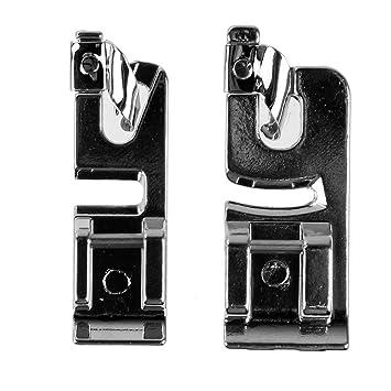Prensatelas Accesorios para Máquina de coser Matefielduk 2pcs 3mm + 6mm estrecho rodó el prensatelas del pie para la máquina de coser doméstica (A): ...