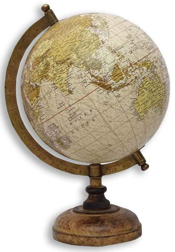 Authentic Models Student Small Globe With Brass /& Wood Base