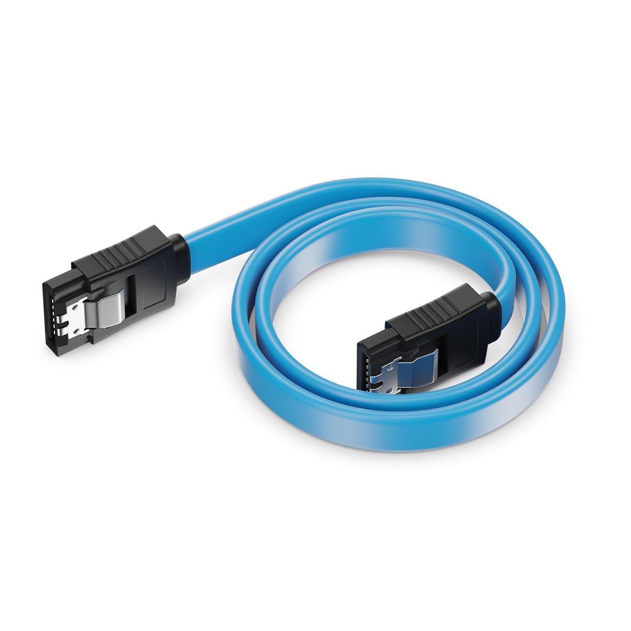 1x gerade zu 90/° 1 St/ück Farbe Gelb deleyCON SATA Kabel 30cm S-ATA 3 HDD SSD Datenkabel 6 GBit//s