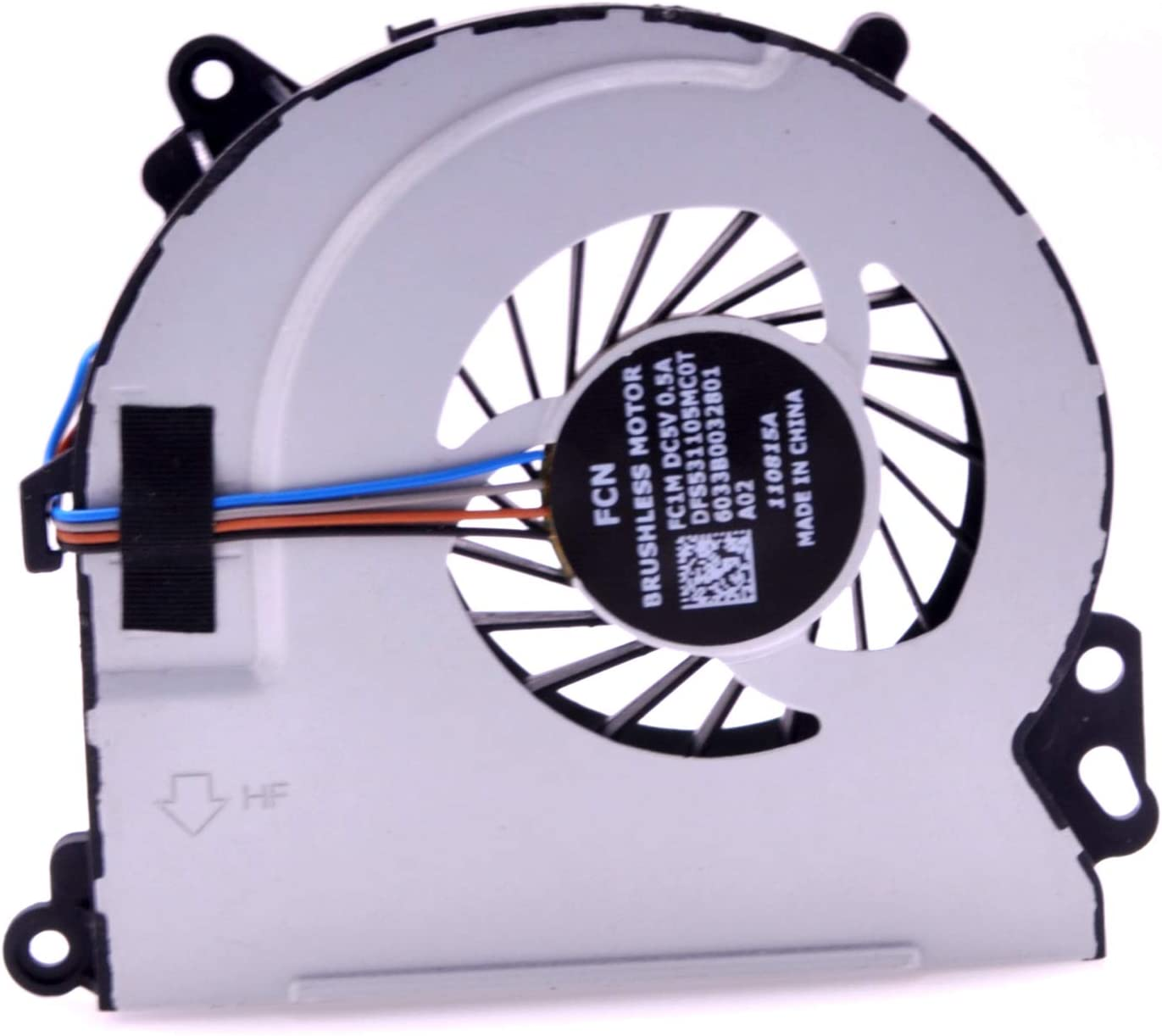PartEGG CPU Fan for HP Envy 15-J 15-Q 17-J 17-J000 17-J100 17T-J M6-N M7-J 15T-J 15Z-J 15T-Q 15Z-Q Cooling Fan 6033B0032801 720235-001
