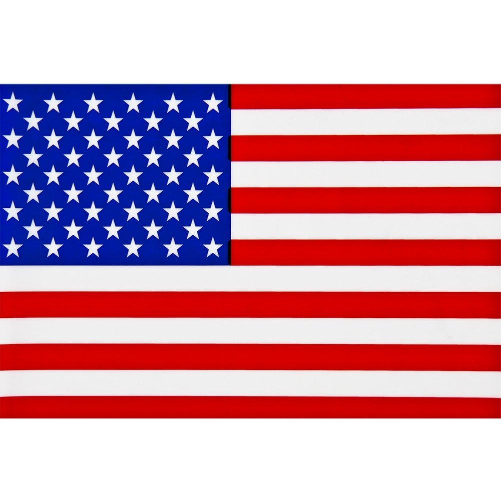 Amazon com american flag cling on window decal automotive