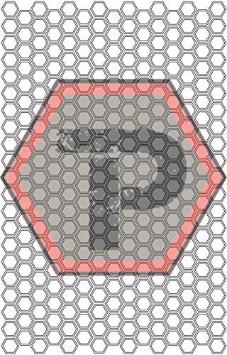 Tactical Penguin Small Hexagon Stencil for cerakote, gunkote, duracoat Avery Paint mask Sticky Back Vinyl ()