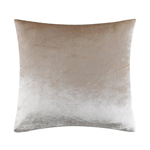 JOSCA - Funda de cojín de terciopelo suave brillante de alta calidad para decoración del hogar, disponibles en color plateado, dorado, azul, rojo y 2 ...
