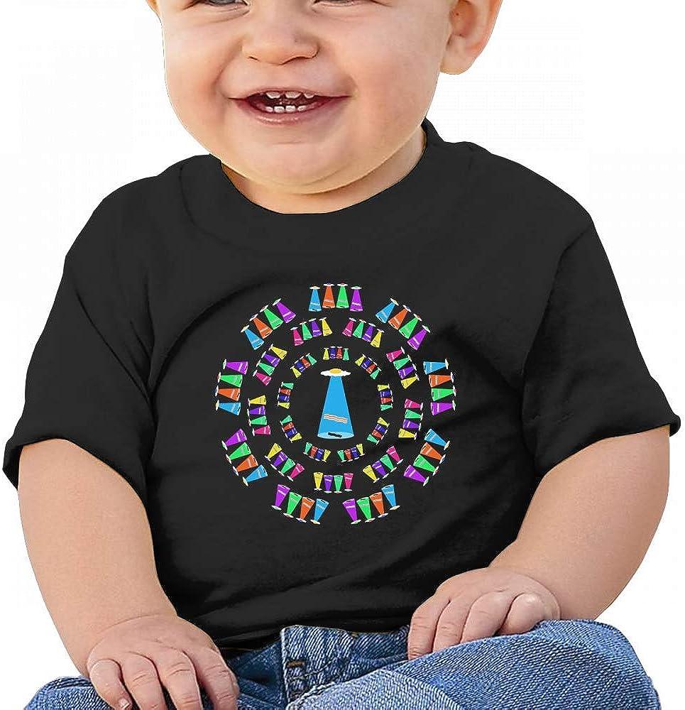 Bacon Egg Alien Spaceship UFO Baby Boys Toddler Short Sleeve T-Shirts Tees