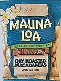 Mauna Loa Dry Roasted Macadamia Nuts with Sea Salt Snack Size 1.15oz (Pack of 18)