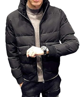 Keaac Mens Zipper up Stand Collar Padded Puffer Down Jackets