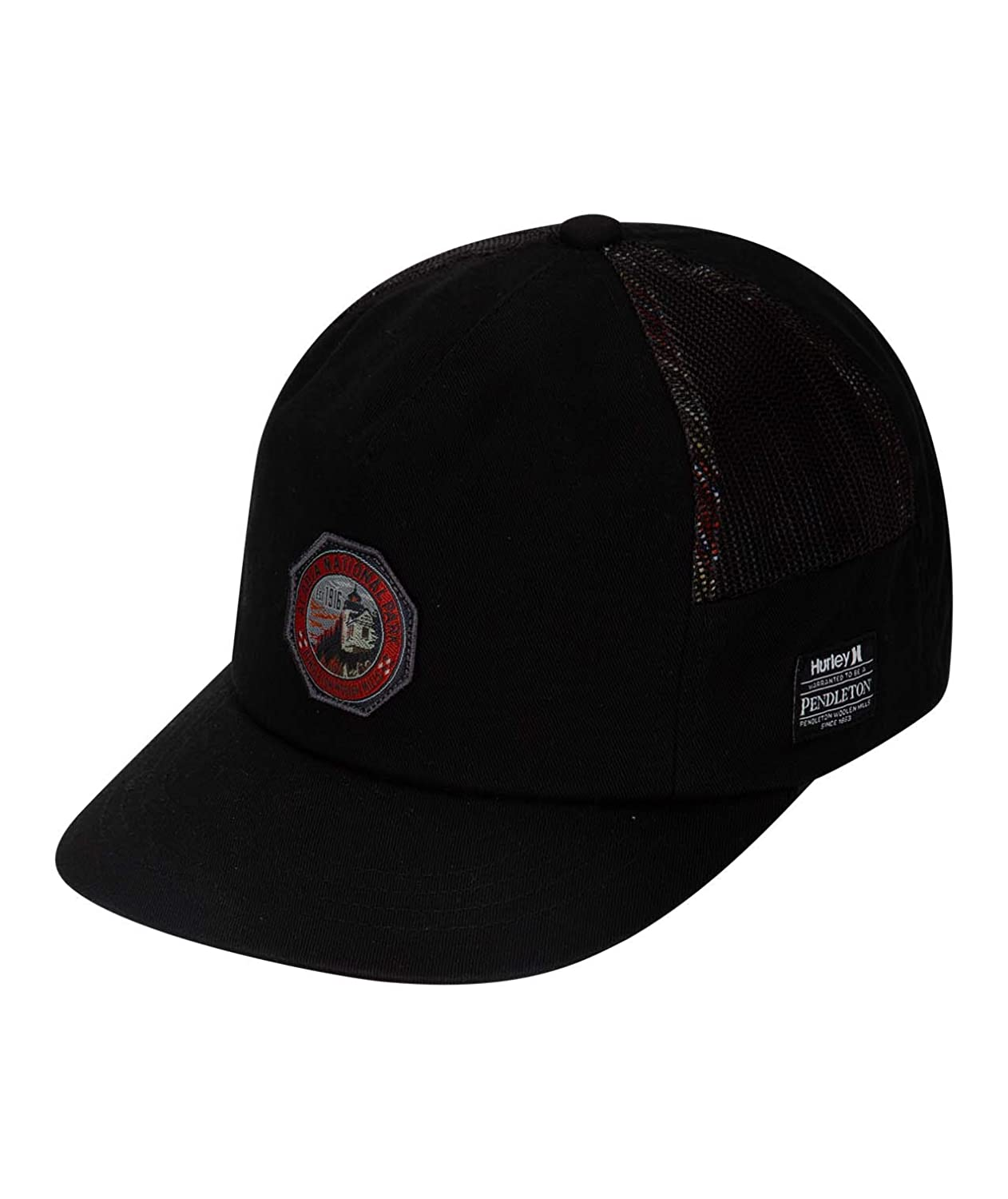 sports shoes aa881 5e82a Hurley Men s Pendleton National Park Collection Cap, Black Qty at Amazon  Men s Clothing store