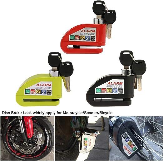 Metal Motorcycle Scooter Anti-theft Wheel Disc Brake Lock Security Alarm 1100DB