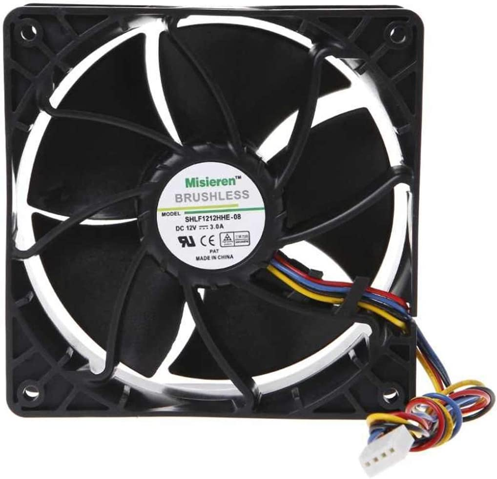 6500 RPM Fan for AntMiner D3/L3+/S9/T9/S7/X3/Z9 AsicMiner Misieren BRUSHLESS SHLF1212GHE-07, V12E12BS1B5-07