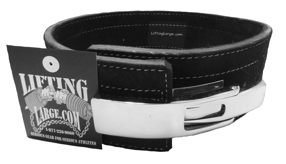 Powerlifting Belt with Lever Buckle - Weightlifting - Crossfit (Medium 29-37 in)