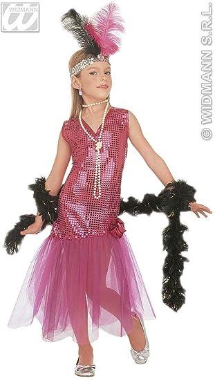 92eb2c19a7784 WIDMANN Desconocido Vestido de charlestón con glamour para niña  Amazon.es   Juguetes y juegos